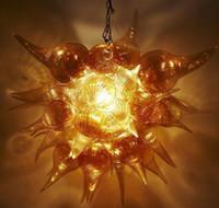 Современная Рука выдувное стекло Bubble Люстра Свет Художественный Потолочный светильник Pure ручной боросиликатного стекла Подвеска люстра с Светодиодные лампы