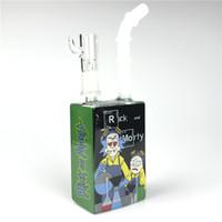 14mm HITMAN GLAS BONG Saft Box Rig mit Wassermännchen 7,5 Zoll Bunte Öl Rigs Square Becher Becher HEACY BONGS FÜR Raucher Wasserleitungen