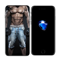 Сексуальная красота мышцы мужской пара iPhoneX iPhone7plus полный пакет телефон случае пользовательские Оптовая