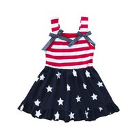 New Style Toddler Baby Girls Star Print 4th Of July Bowknot ...