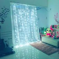 3 * 3M 300 LED resistente al agua cortina de luz de hadas de la secuencia del LED decoración del hogar Luces de la secuencia del partido del festival decoración de jardín cadena luz DH1063 T03
