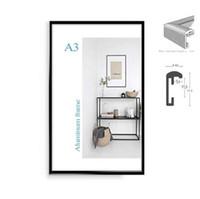 Cadre d'affichage A3 A3 minimaliste classique en aluminium de 8,5 x 11 po, 20 x 30 cm, pour cadre de certificat de cadre photo en métal suspendu
