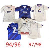 Versión 94/96 Real Madrid retro 98/2000 # 7 RAUL camiseta de fútbol 97/98 HIERRO REDONDO SUKER Seedorf fútbol camisa # 6 REDONDO uniforme de fútbol