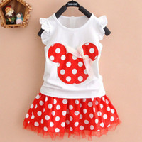 2020 Fashion New Lovely Kids Baby Girls Mouse Party Dress Ve...