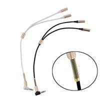 Yeni Moda Lüks Ses Dönüşüm Kablosu 3.5mm Erkek Kadın Kulaklık Jack Splitter Ses Adaptör Kablosu 90 derece kafa eklemek metal bahar