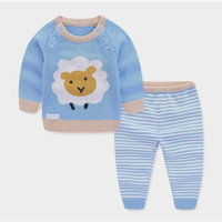 9391f0b9d5 good quality Baby Boy Girl Clothing Sets Spring Autumn Knitted Pullovers+Pants  2pcs suit Turtleneck Sweaters Warm Outerwear Outfits