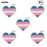 Transgender orgoglio Spille Spilla 5pcs Flag spilla distintivo Pins Badges