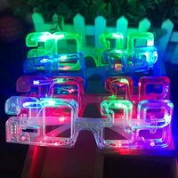 2019 LED 플래시 라이트 디지털 안경 플라스틱 크리스마스 할로윈 Luminescence 안경 신년 파티 바 KTV 용품 2 mw hh