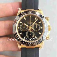 5 colori Super JH Factory Mens Chronograph Cron automatico. 4130 movimento orologio da uomo orologio in gomma oro orologi sport orologio luminoso