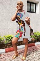 أزياء السيدات طباعة اللباس المرأة اللباس عارضة مصمم الملابس أنثى الصيف طاقم الرقبة فستان فتاة مطبوعة أفريقيا
