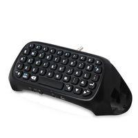 Trådlöst Bluetooth trådlöst tangentbord för PS4 Controller Wireless Bluetooth-tangentbord Joystick Gamepad PS4-tangentbord