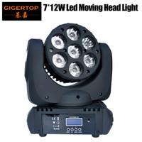 Freeshipping 7x12W 4en1 RGBW LED super brillante móvil de la viga-4 en 1 móvil de la viga Light 100V-240V 90W Led Rayo de luz