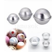 Torta in lega di alluminio stampo fai da te bath bomba bomba muffa palla sale palla fatta in casa creazione regali semicerchio sfera stampo DA327