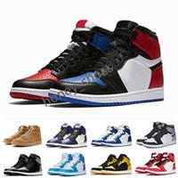 1 AJ1 Retro caméléons haute OG chaussures de basket-ball de NRG igloo interdit blanc noir orteil éléphant impression Chicago royal piste rouge sneakrs formateurs