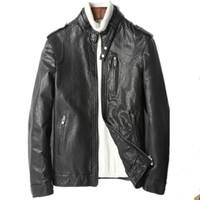 남성 가죽 가짜 정품 자켓 진짜 양피 코트 남성 봄 가을 streetwear 오토바이 자켓 Chaqueta Hombre My1811