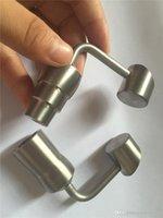 Großhandel 14 / 19mm Männlich Weiblich Domeless Titanium Banger Nails Konzentrat Zubehör für Glasbongs Rigs dab Recycler Glasbong