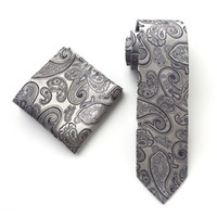 New Design Silk Tie Set for Men 8cm Tie Men Handkerchief Nec...