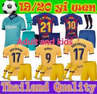 2019 adult kids Soccer Jerseys 19 20 Messi GRIEZMANN DE JONG...