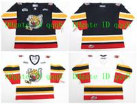 Personalizado OHL BARRIE COLTS Jerseys Branco Azul Personalizado Qualquer Nome Número 100% Costura Personalizado Hockey Jerseys