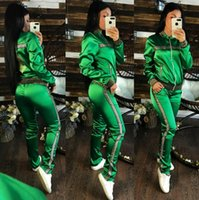 Europe and America Women Designer Tracksuits Stamping Logo S...