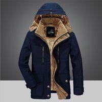 BINHIIRO solide épais hiver coton chaud hommes parkas M-6XL taille hommes outwear à manches longues rabattre le col parkas veste homme