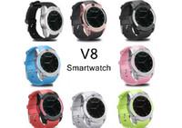 V8 Smart Watch-Armbanduhr-Uhr mit 0,3M-Kamera-SIM-IPS-HD-Vollkreis-Display Smart Watch für Android-System mit Kasten