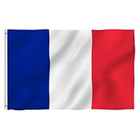 Национальный флаг Франции 3x5 FT 150X90CM 100D 100% полиэстер баннер латунные люверсы для украшения висит реклама