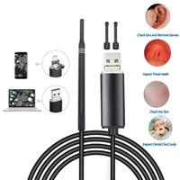 3IN1 والأذن تنظيف التنظير USB و 5.5mm البصرية بيك أب الأذن HD كاميرا ملعقة منظار الأذن مسحات