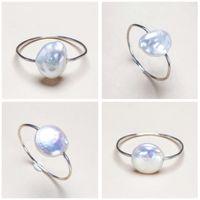 Einzigartige Barock Perle Ring 8-9mm Süßwasser Perle Ring S925 Sterling Silber schmuck Modedesigner für Frauen Hochzeitsgeschenk 1 teile / los
