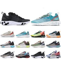 Zapatillas de running New Style React Element 87 para hombre mujer Sail Royal Tint Anthracite VOLT RACER PINK Zapatillas deportivas para hombre Trainer 36-45