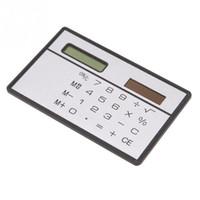 Novedad Pequeño viaje Compacto delgado Tarjeta de crédito Barato Energía solar Calculadora de bolsillo YUU8768