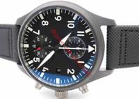 Herren Luxus YLF Fabrik Asien 7750 Valjoux Automatik Chronograph Herren High Grade eingeführter Qualitäts Keramik Sport Black Nylon Uhren