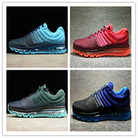 NIKE Air Max 2017 2019 Fashion Mens Running Shoes scarpa da tennis 2017 scarpe Kpu Mens Sport Rosso Nero Grigio di alta qualità formato 36-46 CB56