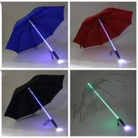 LED Işık Şemsiye Serin Bıçak Runner Işıkları Sabre Flaş Gül Şemsiye Gece Yürüteç Fener Şişe Ev Ürün LXL754