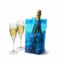 Raffreddamento del vino Borsa del ghiaccio Portabottiglie bottiglia in PVC Sacchetti regalo Sacchetto del ghiaccio del vino Alta qualità di trasporto libero