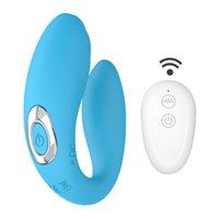 Vibratore senza fili giocattoli del sesso per coppie 10 Speed USB ricaricabile Punto G silicone stimolatore doppio Vibratori J2208