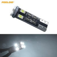 FEELDO 2ST Auto DC12V ~ 14.5V 6000 ~ 6500K Weiß 8SMD 3528 T10 Keil-Objektiv LED-Glühlampe mit CAN-Bus-Fehler frei Light # 4244