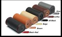 DIY Araba Örgü Deri Direksiyon Kapağı 38 CM Evrensel Boyutu Siyah vb Renk