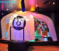 5M القابل للإزالة صور كشك المرح الإضاءة خيمة نفخ photobooth مع أضواء LED