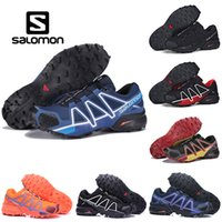 Salomon Speed ​​Cross 4 CS Mens Chaussures De Randonnée En Plein Air Speedcross Respirant Femmes Athlétisme Running Sport Sneakers 36-46