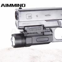 مسدس تكتيكي قاد مصباح يدوي مع إطلاق سريع 20m Mount قاعدة للمسدس Led مصباح يدوي لبندقية مسدس