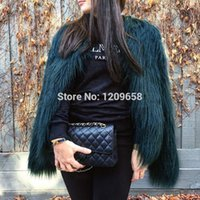 OLGITUM 2018 Autumn Winter Coat Jacket Women Fluffy Warm Lon...