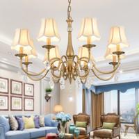 현대 크리스탈 샹들리에 골드 전통 교외 중산층 홈 장식 조명 LED 실내 식당과 거실 램프