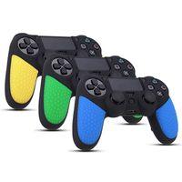 실리콘 아날로그 엄지 스틱 그립 보호 피부 커버 케이스 소니 플레이 스테이션 DUALSHOCK 4 PS4 컨트롤러 게임 패드 케이스 캡