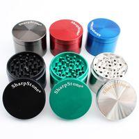 Sharpstone Herb 4 Partie en alliage de zinc Grinder 40mm / 50mm / 55mm / 63mm Spice Cracker Tabac Grinder métal pour fumeurs Accessoires