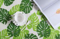 Impressão em tecido Jantar Água Captação guardanapos de mesa algodão e linho Tea Leaf Toalha Party Supplies New 4 5SD C