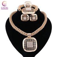 I monili Dichiarazione color oro Boho donne calde di vendita Trendy collana con orecchini da sposa per il partito
