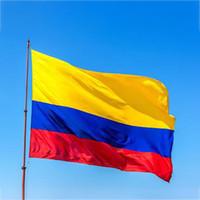 90 * 150 cm Kolombiya Cumhuriyeti Bayrağı Afiş 3x5ft Kolombiya Güney Amerika Polyester Hayranları Tezahürat Bayrakları parti Süslemeleri DHL GEMI WX9-1454