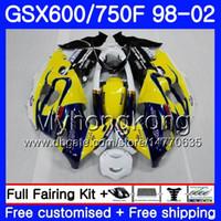 Lichaam voor Suzuki Katana GSXF 600 750 GSXF750 98 99 00 01 02 292HM.22 GSX 750F 600F GSXF600 Geel Hot Hot 1998 1999 2000 2001 2002 Kuip