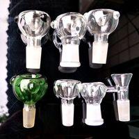 Glasschüssel Stücke für Glas Bongs Rauchen Wasserpfeifen Tupfen Ölplattformen Bubbler 14mm 19mm Weiblich Männlich Joint Trichter Bubble Bowls Slides Herb